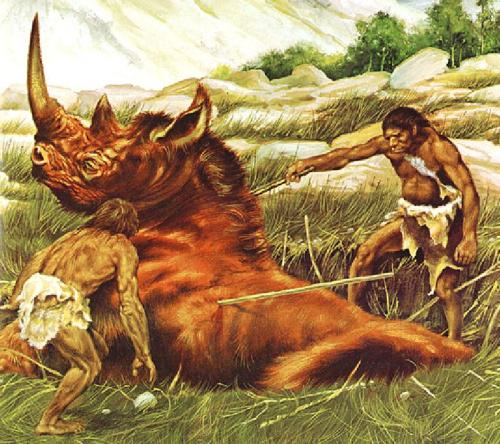 Our ancestors engaged in some serious cardio exercise just to get food.