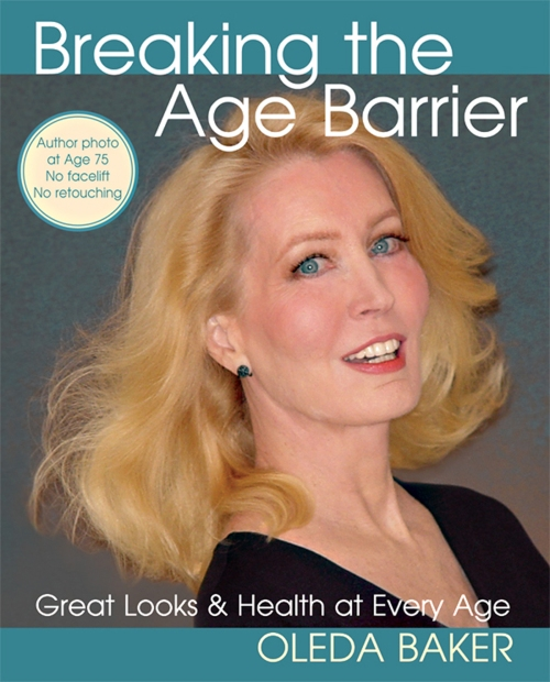 Here is Oleda Baker on the cover of her latest book on Breaking the Age Barrier. She was 75  in the photo.