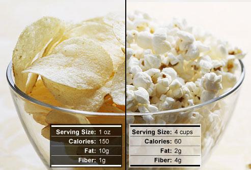 popcorn when on a diet