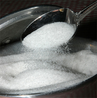 That teaspoon of sugar weighs just over 4 grams.