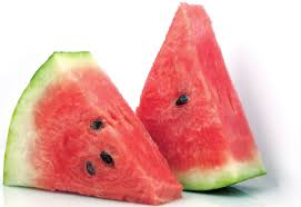 Here is a healthy portion of watermelon. Eating a half of a watermelon is now healthy.