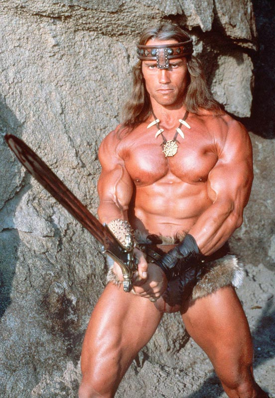 Arnold Schwarzenegger As Conan The Barbarian Six Foot Two Inches Tall 257 Pounds