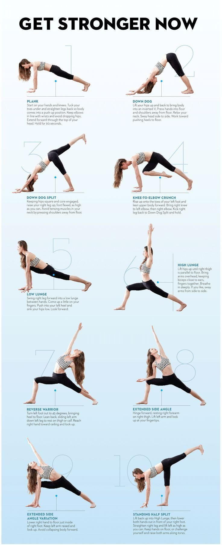 Body Strengthening Yoga Poses Infographic One Regular Guy Writing About Food Exercise And Living Past 100