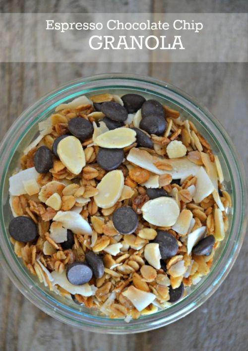 espresso chocolate chip granola national espresso day