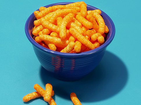 Bowl of cheese puffs   Original Filename: 88302906.jpg