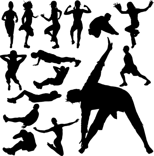 gym_vector_silhouettes